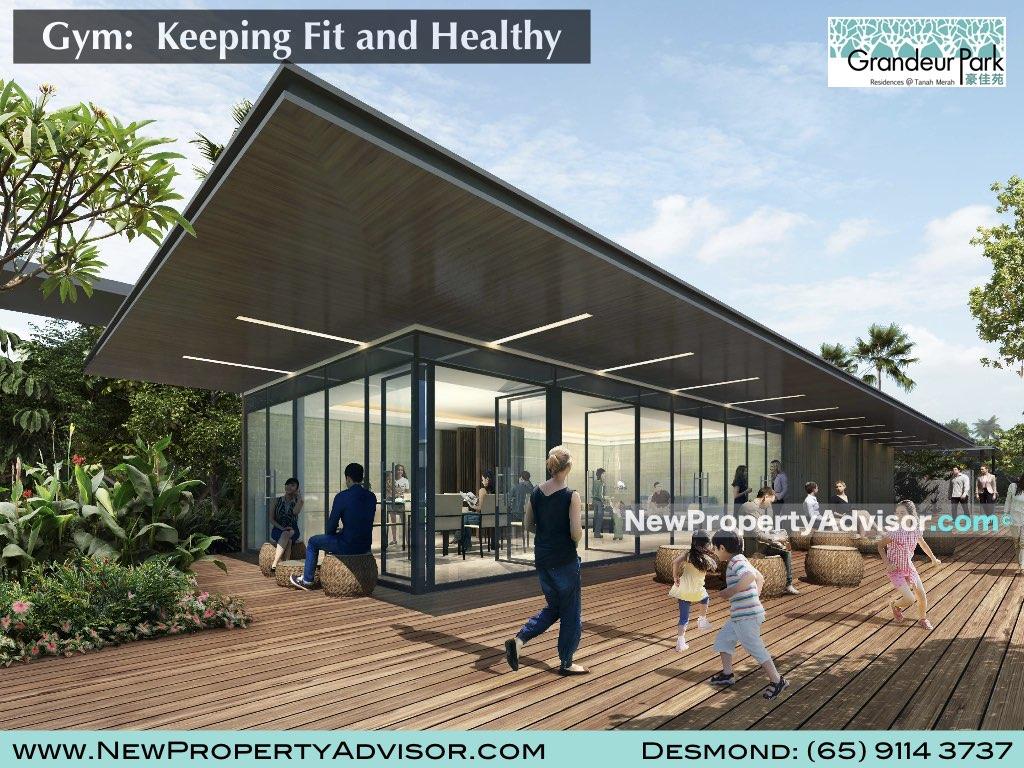 gym at grandeur park residences