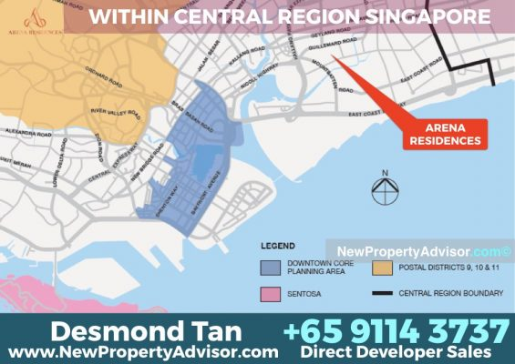 Arena Residences central location