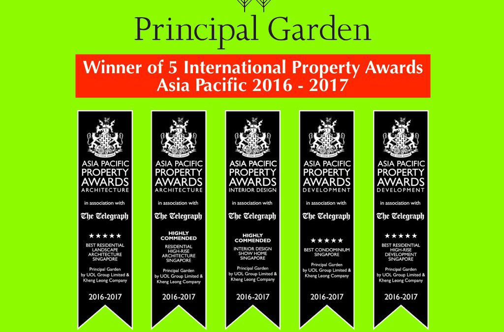 Principal Gardens – Top Winners at the International Property Awards Asia Pacific 2016 – 2017