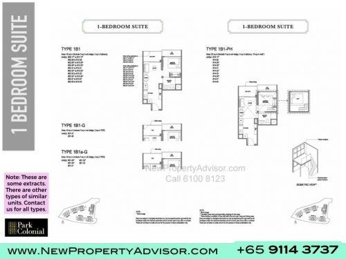 Park Colonial Floor Plan 1 bedroom suite