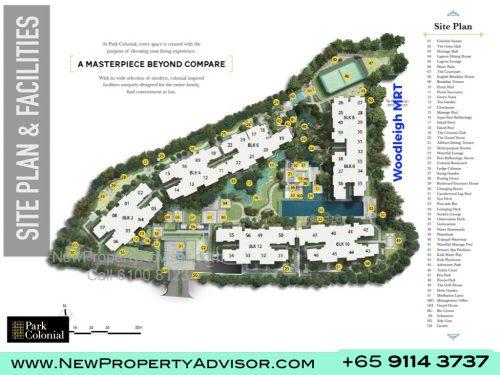 Park Colonial Singapore Site Plan