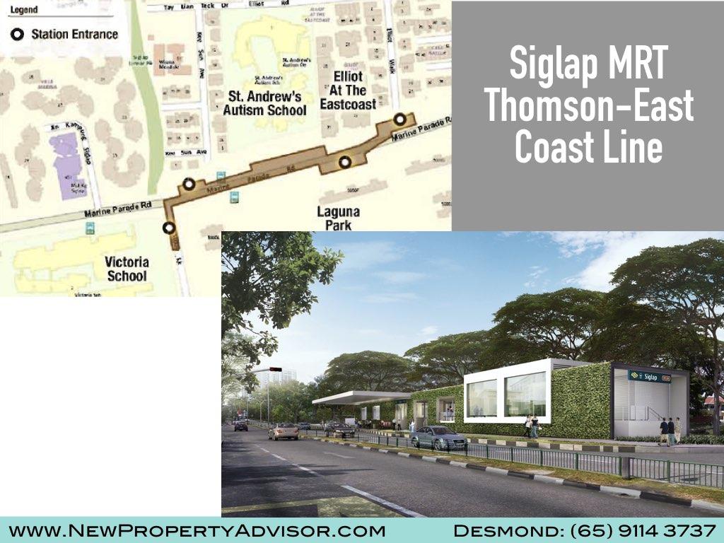 Siglap MRT Entrance