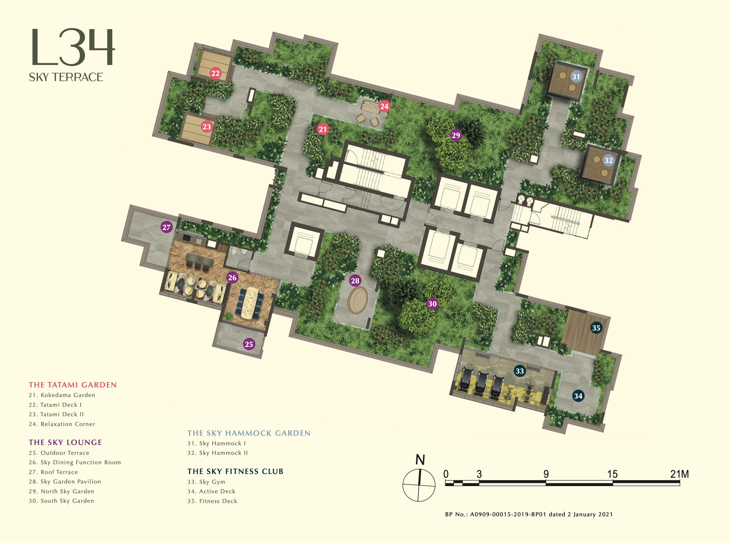 one-bernam-singapore-level-34-site-plan