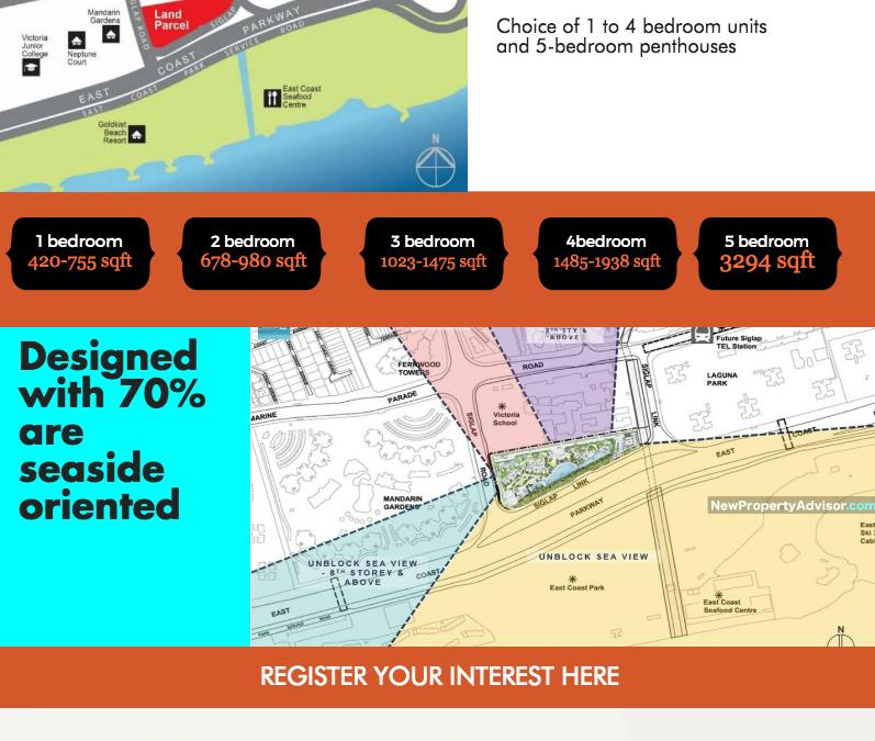 Seaside Residences Singapore Infographic